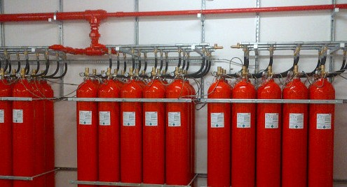 cable and wireless ig-55 fire suppression